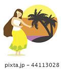 フラダンス ダンス 女性のイラスト 44113028