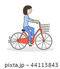 女性 自転車 サイクリングのイラスト 44113843