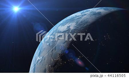 地球3DCG perming3DCG180928 イラスト素材 44116505