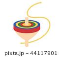 独楽 正月 おもちゃのイラスト 44117901