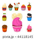 ベクトル カップケーキ 食のイラスト 44118145