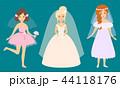 新婦 花嫁 ウェディングのイラスト 44118176