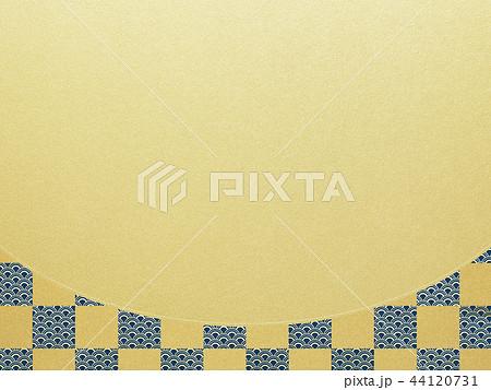 和-和風-和柄-背景-金箔-市松模様 44120731