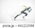 スポーツ モノクロ 陸上のイラスト 44121598