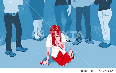 泣く女性被害者 偏見 - セカンドレイプ コンセプトアート 44124342