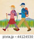 シニア 登山 トレッキングのイラスト 44124530