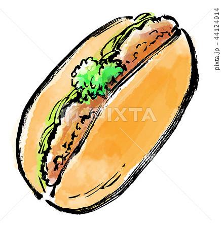 筆描き パン コロッケパン 44124914