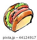 筆描き パン ハムサンド 44124917