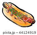 筆描き パン ソーセージパン 44124919
