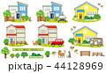 一軒家 家 住宅のイラスト 44128969