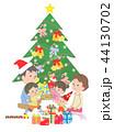 クリスマス クリスマスツリー 家族のイラスト 44130702