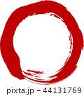 丸 円 赤のイラスト 44131769