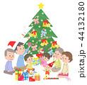 クリスマス クリスマスツリー 家族のイラスト 44132180
