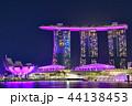 シンガポール マリーナベイ・サンズ 夜景の写真 44138453