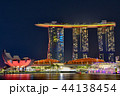 シンガポール マリーナベイ・サンズ 夜景の写真 44138454