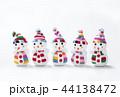 クリスマスイメージ 雪だるま イメージ素材 44138472
