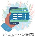 オンライン チケット 概念のイラスト 44140473