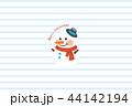 クリスマス 雪だるま ベクターのイラスト 44142194