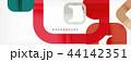 ジオメトリック 幾何学的 抽象的のイラスト 44142351