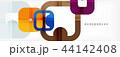 ジオメトリック 幾何学的 抽象的のイラスト 44142408