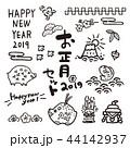 亥年 年賀状素材 正月のイラスト 44142937