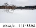 雪原 雪景色 雪の写真 44143398