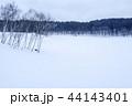 雪原 雪景色 雪の写真 44143401