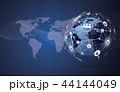 ネットワーク 通信 グローバルのイラスト 44144049