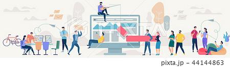 Social Network and Teamwork Vector Concept. 44144863