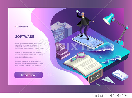 Software and Sending Messages. Vector Illustration 44145570