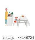 ライフスタイル キッチン 暮らしのイラスト 44146724