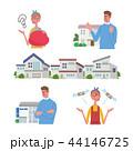 家 購入 夫婦 イラスト セット 44146725