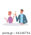 シャンパンで乾杯をする男女 イラスト 44146734