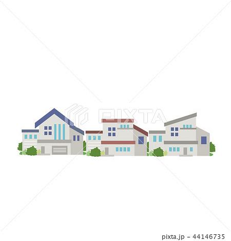 家 町並み イラストのイラスト素材 44146735 Pixta