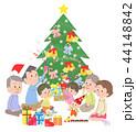クリスマス クリスマスツリー プレゼントのイラスト 44148842