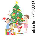 クリスマス クリスマスツリー プレゼントのイラスト 44148846