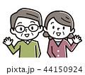 夫婦 シニア ベクターのイラスト 44150924