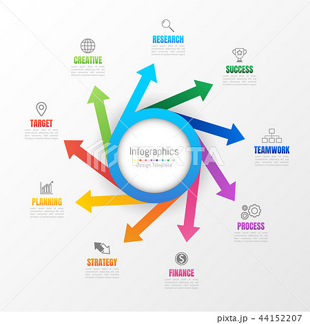Infographic design elements with 9 options. 44152207