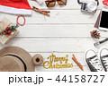 平面図 クリスマス メリーの写真 44158727