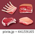 ステーキ肉 ブタ肉 ポークのイラスト 44159165