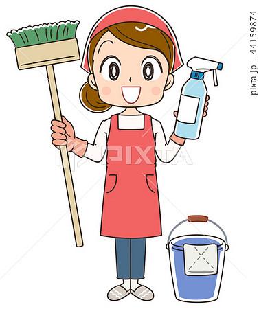 掃除をする女性のイラスト 44159874