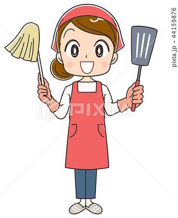 家事をする女性のイラスト 44159876