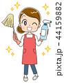 掃除 お掃除グッズ エプロンのイラスト 44159882
