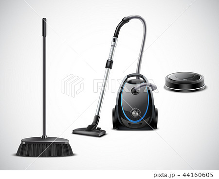Vacuum Cleaner Evolution Realistic Illustration 44160605