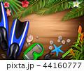 背景 トロピカル 熱帯のイラスト 44160777