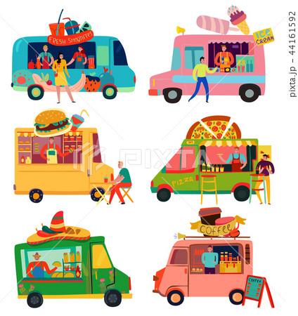 Food Trucks Set 44161592