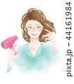 女性 ドライヤー 乾かすのイラスト 44161984