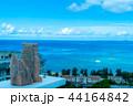 シーサー越しの沖縄の風景 44164842