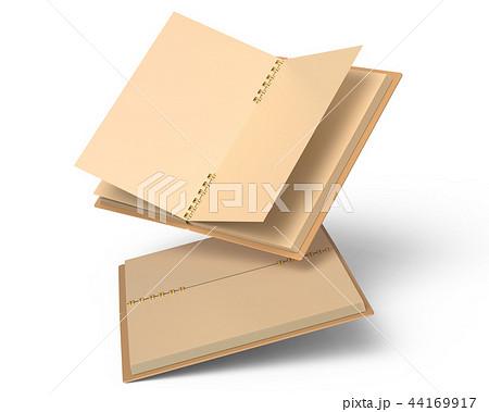 Blank open cardboard notebook 44169917