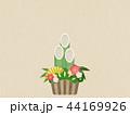 和紙 正月 縁起物のイラスト 44169926